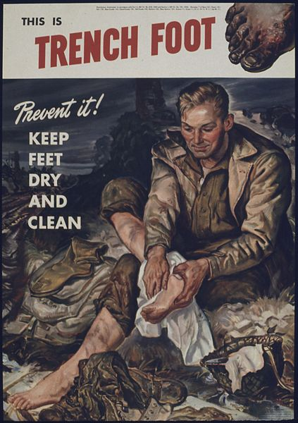 Trench Foot and nonfreezing cold injury