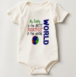 'Best Podiatrist In World' Baby Romper