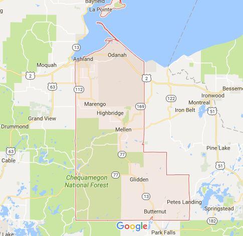 Find a Podiatrist in Ashland County, Wisconsin
