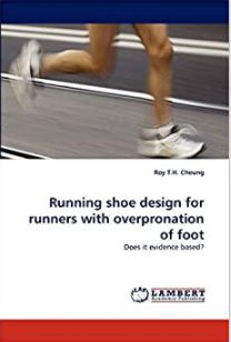 Running shoe design for runners with overpronation of foot